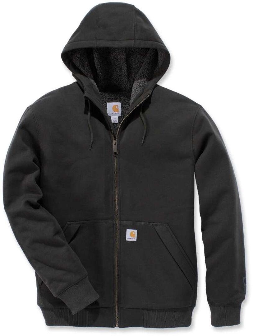Carhartt Sherpa-Lined Midweight Full-Zip Sweatshirt Black Grey L