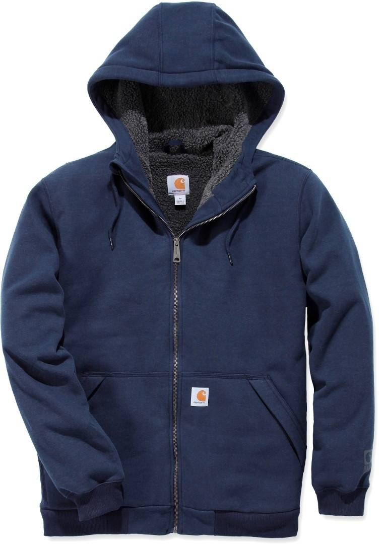 Carhartt Sherpa-Lined Midweight Full-Zip Sweatshirt Blue S