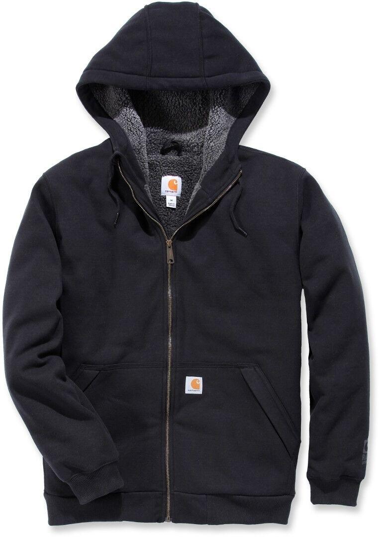 Carhartt Sherpa-Lined Midweight Full-Zip Sweatshirt  - Black - Size: L