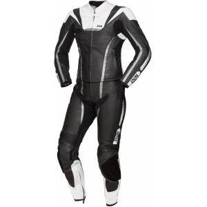 IXS Sport LD RS-1000 Two Piece Ladies Motorcycle Leather Suit  - Black White - Size: 42