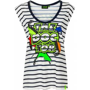 VR46 Street Art Ladies T-Shirt  - Blue - Size: M