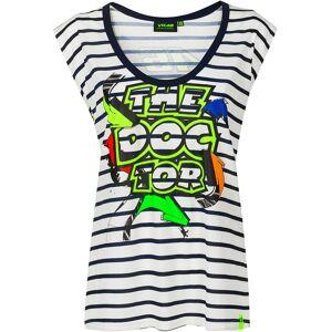 VR46 Street Art Ladies T-Shirt  - Blue - Size: S