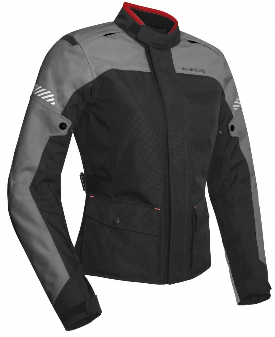 Acerbis Discovery Forest Ladies Motorcycle Textile Jacket Black Grey S
