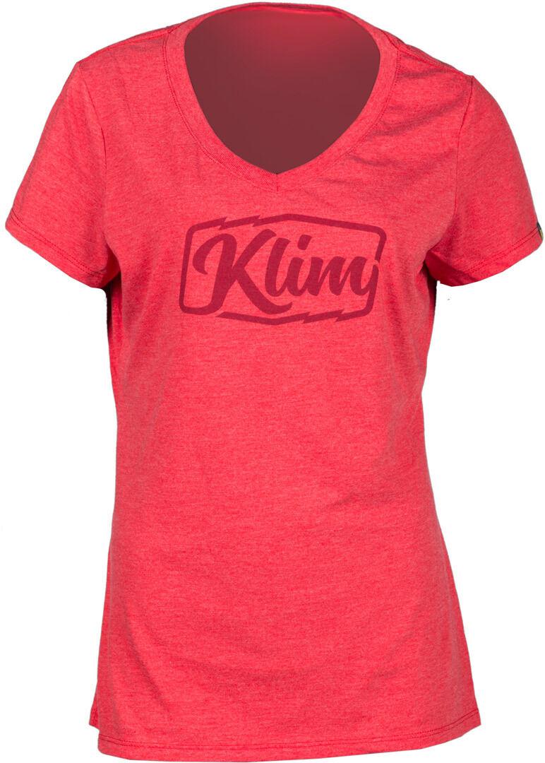Klim Script Ladies T-Shirt  - Red - Size: S