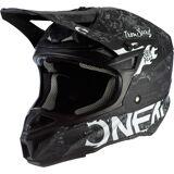 Oneal 5Series Polyacrylite HR Motocross Helmet  - Black White - Size: XL