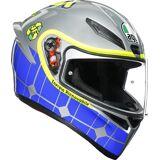 AGV K-1 Rossi Mugello 2015 Helmet  - Blue Silver - Size: 2XL