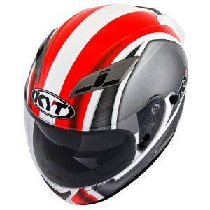 KYT Falcon Sim Helmet  - White Red - Size: XS