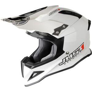 Just1 J12 Motocross Helmet  - White - Size: M