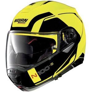 Nolan N100-5 Consistency N-Com Helmet  - Black Yellow - Size: S