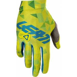 Leatt GPX 2.5 V22 X-Flow Gloves  - Blue Yellow - Size: M