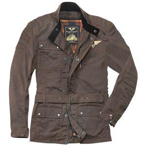 Black-Cafe London Exit Motorcycle Textile Jacket  - Brown - Size: S