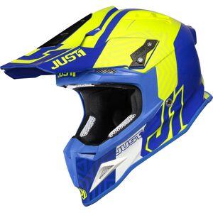 Just1 J12 Syncro Carbon Motocross Helmet  - Yellow Blue - Size: M