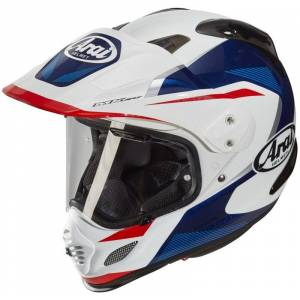Arai Tour-X 4 Break Blue Motocross Helmet  - White Blue - Size: L