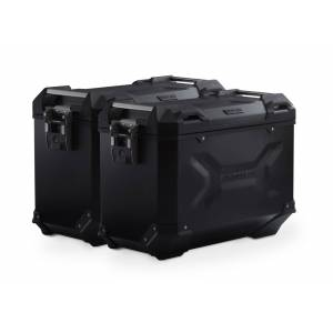 SW-Motech TRAX ADV aluminium case system - Black. 45/45 l. Honda NC700 S/X, NC750 S/X. aluminium case system Black 45/45 Liter - Honda NC700 S/X, NC750 S/X  - schwarz
