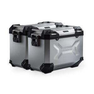 SW-Motech TRAX ADV aluminium case system - Silver. 45/45 l. Multistrada 1200 / S (10-14). aluminium case system Silver 45/45 Liter - Ducati Multistrada 1200 / S (10-14)