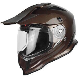 Just1 J14 Adventure Solid Motocross Helmet  - Brown - Size: M