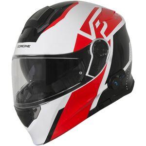 Origine Delta Level Blinc Bluetooth Helmet  - White Red - Size: M