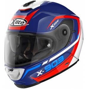 X-lite X-903 Cavalcade N-Com Helmet  - White Red Blue - Size: M
