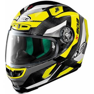 X-lite X-803 Ultra Carbon Mastery Helmet  - Black White Yellow - Size: M