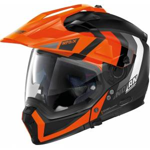 Nolan N70-2 X Decurio N-Com Helmet  - Black Orange - Size: S