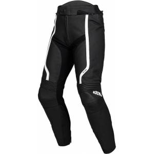 IXS Sport RS-600 1.0 Motorcycle Leather Pants  - Black White - Size: M 31 32