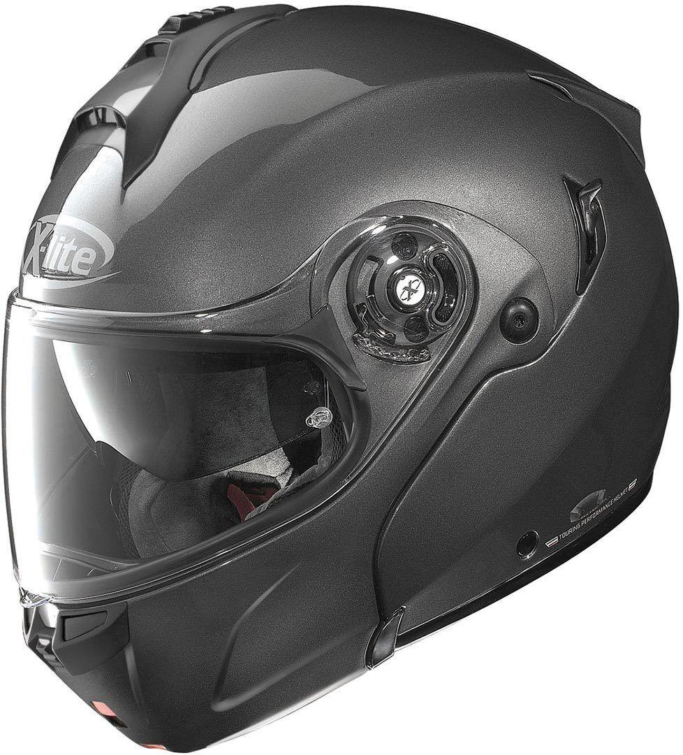 X-Lite X-1004 Elegance N-Com Helmet  - Black Grey - Size: L