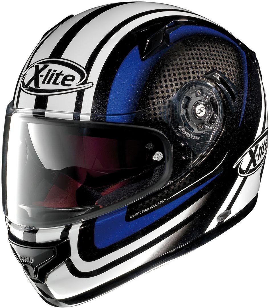 X-Lite X-661 Slipstream N-Com Helmet  - Black White Blue - Size: M