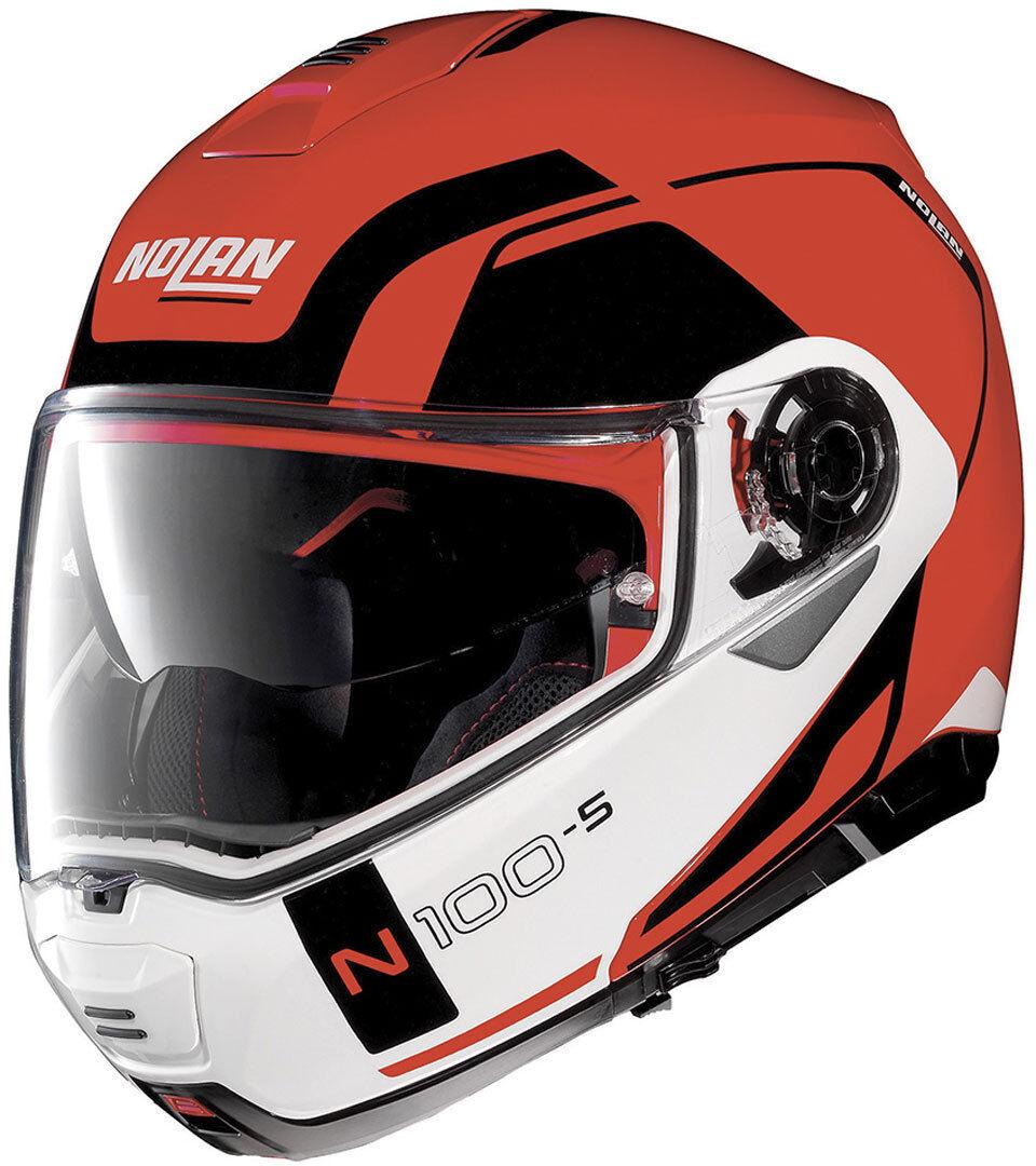Nolan N100-5 Consistency N-Com Helmet  - White Red - Size: M