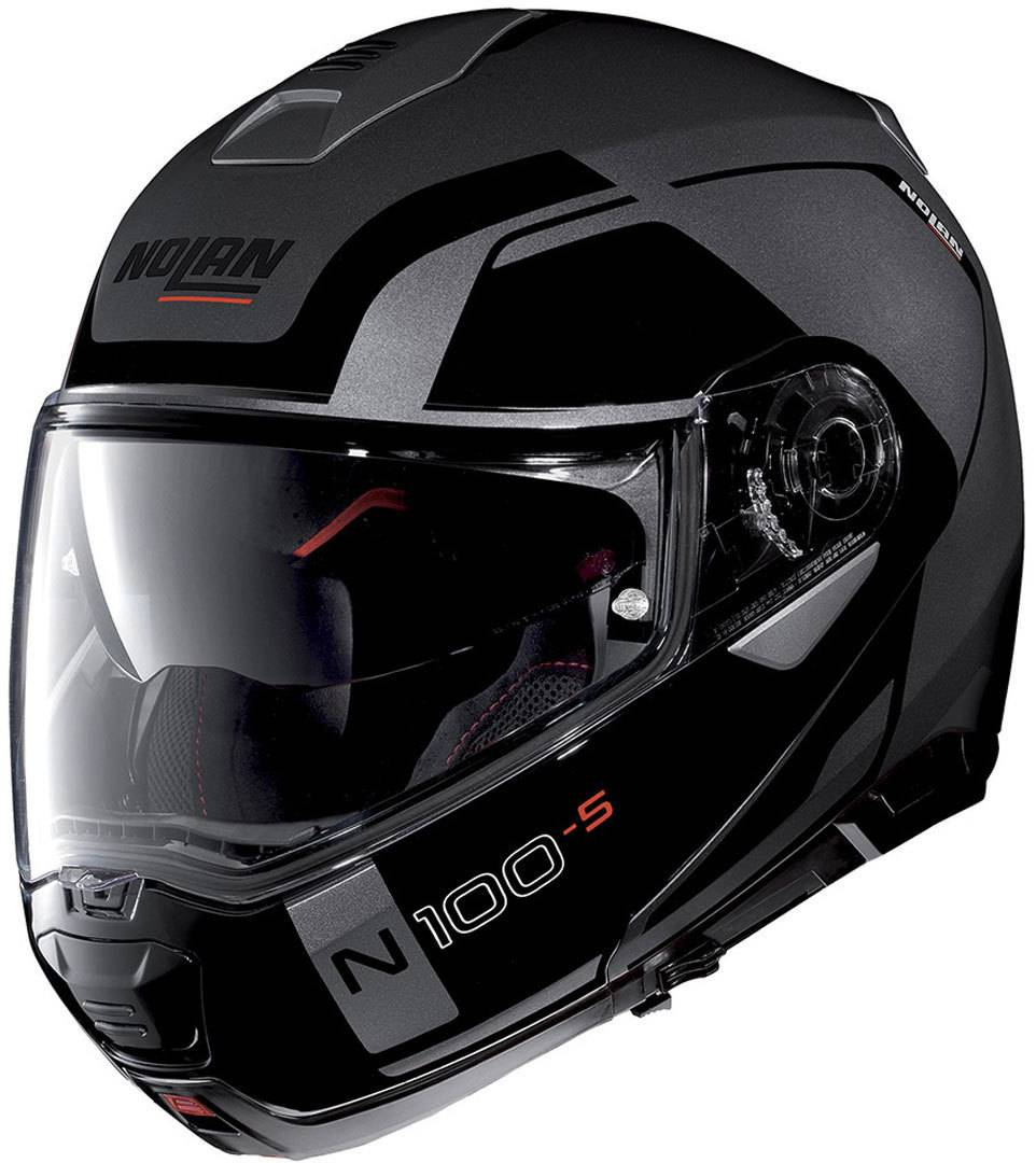 Nolan N100-5 Consistency N-Com Helmet  - Black Grey - Size: L