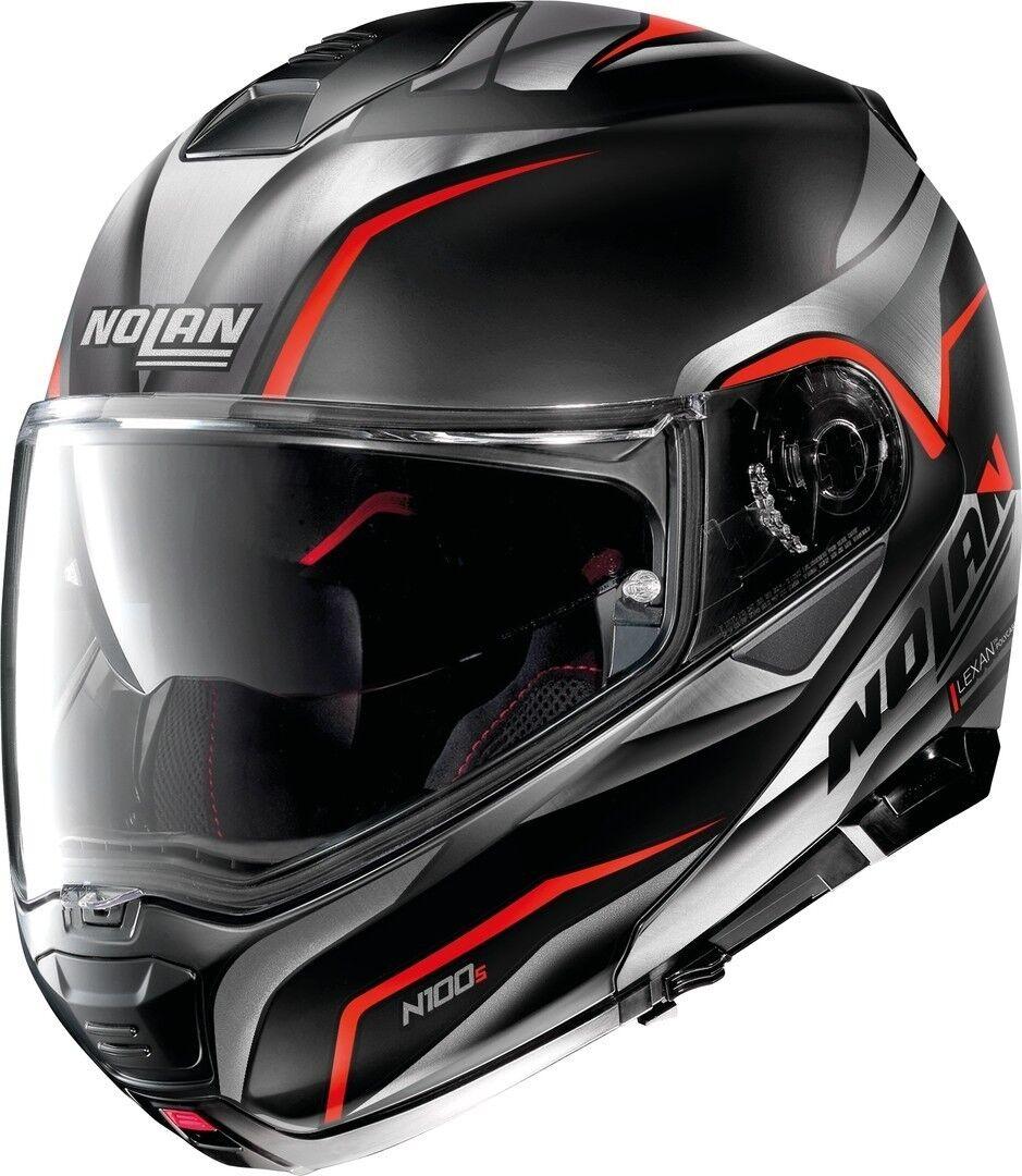 Nolan N100-5 Balteus N-Com Helmet  - Black Red - Size: L