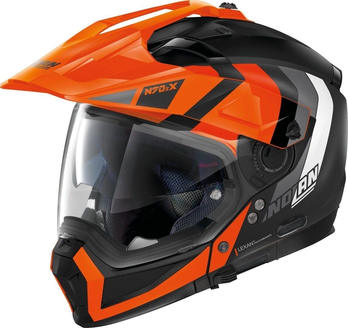 Nolan N70-2 X Decurio N-Com Helmet  - Black Orange - Size: L