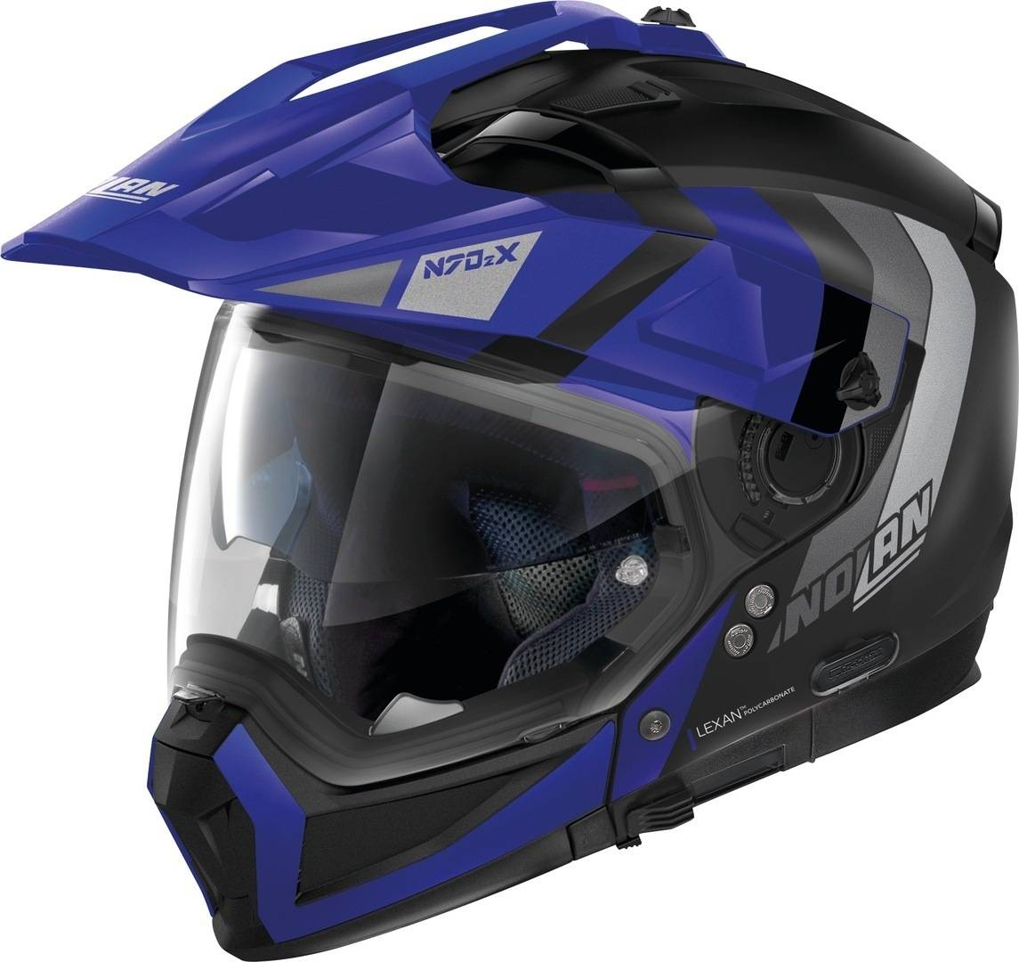 Nolan N70-2 X Decurio N-Com Helmet  - Black Blue - Size: L