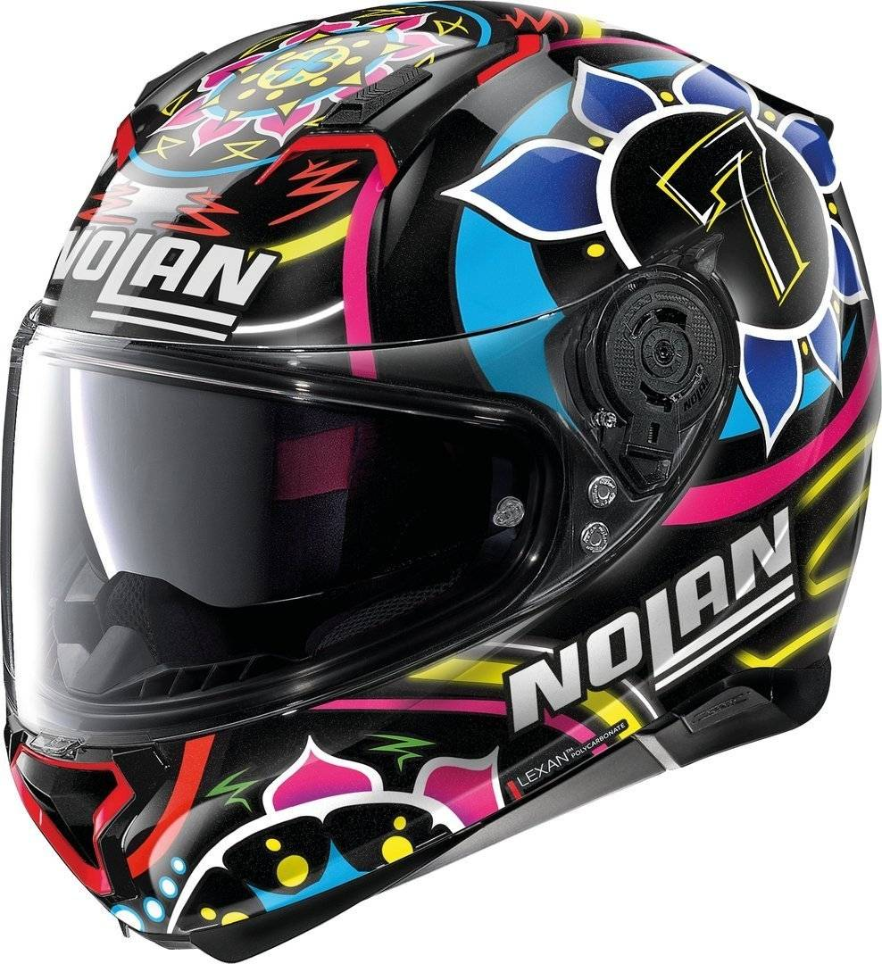 Nolan N87 Gemini Replica C. Davies N-Com Helmet  - Multicolored - Size: S