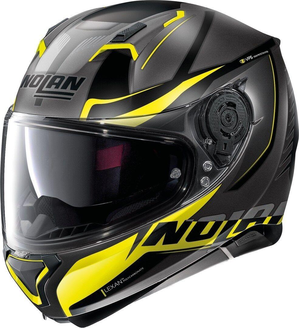 Nolan N87 Miles N-Com Helmet  - Grey Yellow - Size: XL