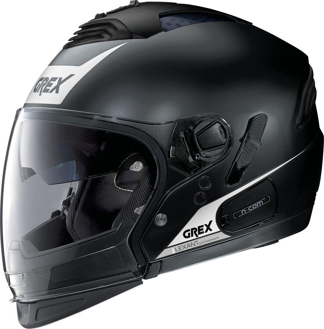 Grex G4.2 Pro Vivid N-Com Helmet  - Black White - Size: S