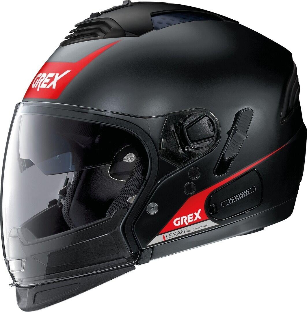 Grex G4.2 Pro Vivid N-Com Helmet  - Black Red - Size: XL