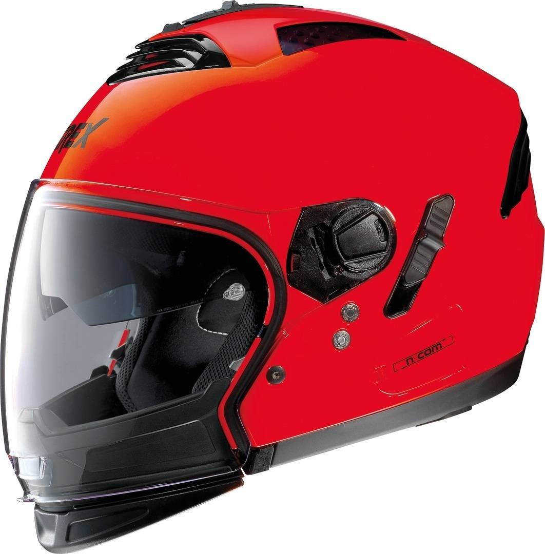 Grex G4.2 Pro Kinetic Neon N-Com Helmet  - Red - Size: M