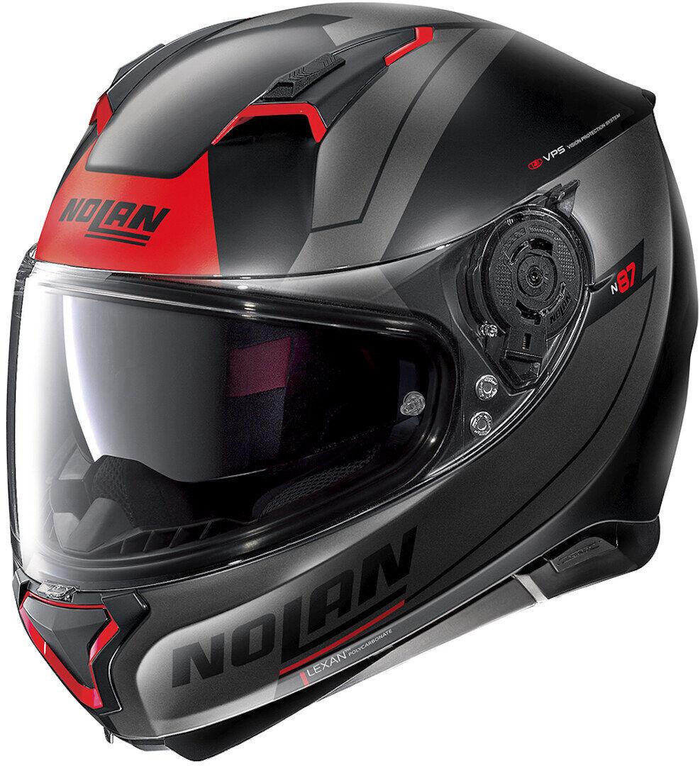 Nolan N87 Skilled N-Com Helmet  - Black Red - Size: S