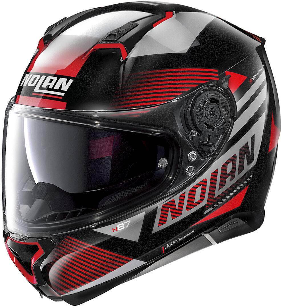 Nolan N87 Jolt N-Com Helmet  - Black Red - Size: S