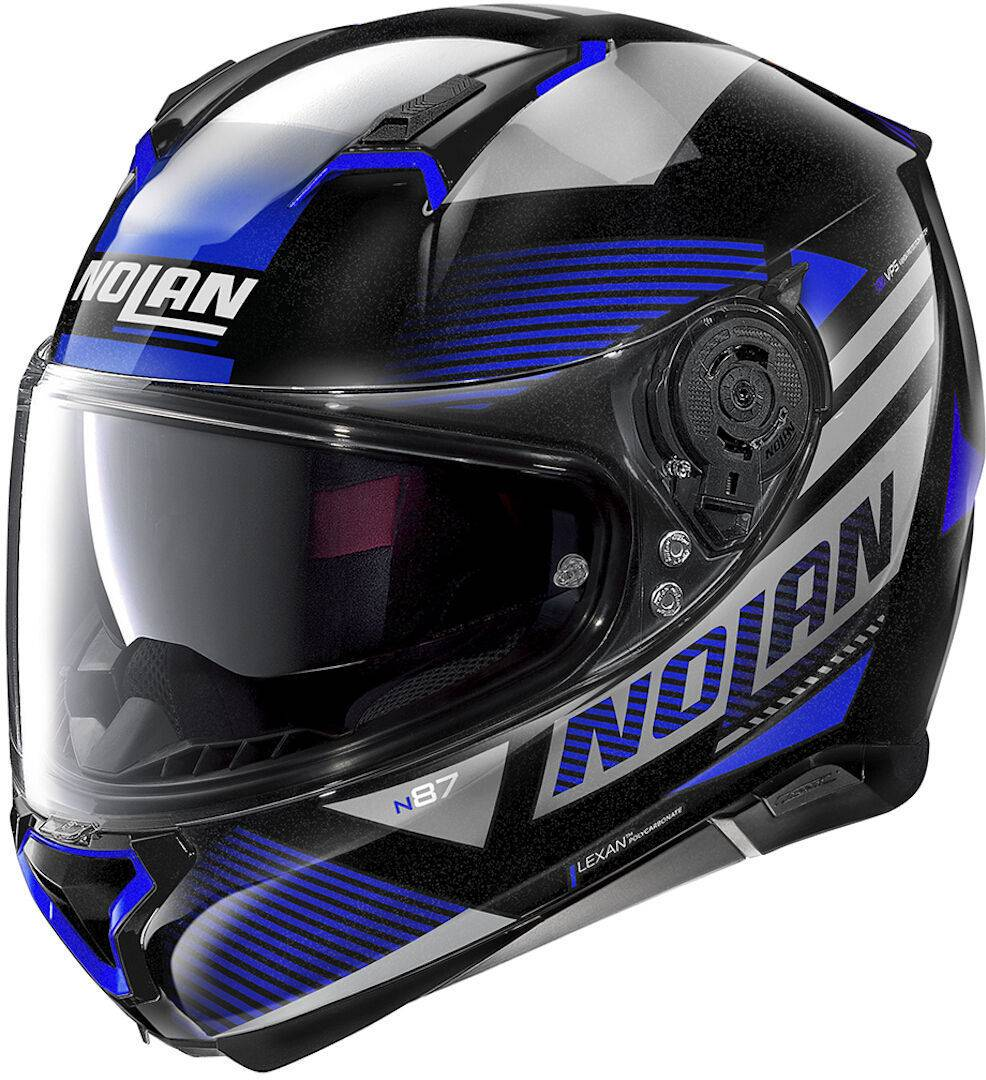 Nolan N87 Jolt N-Com Helmet  - Black Blue - Size: S