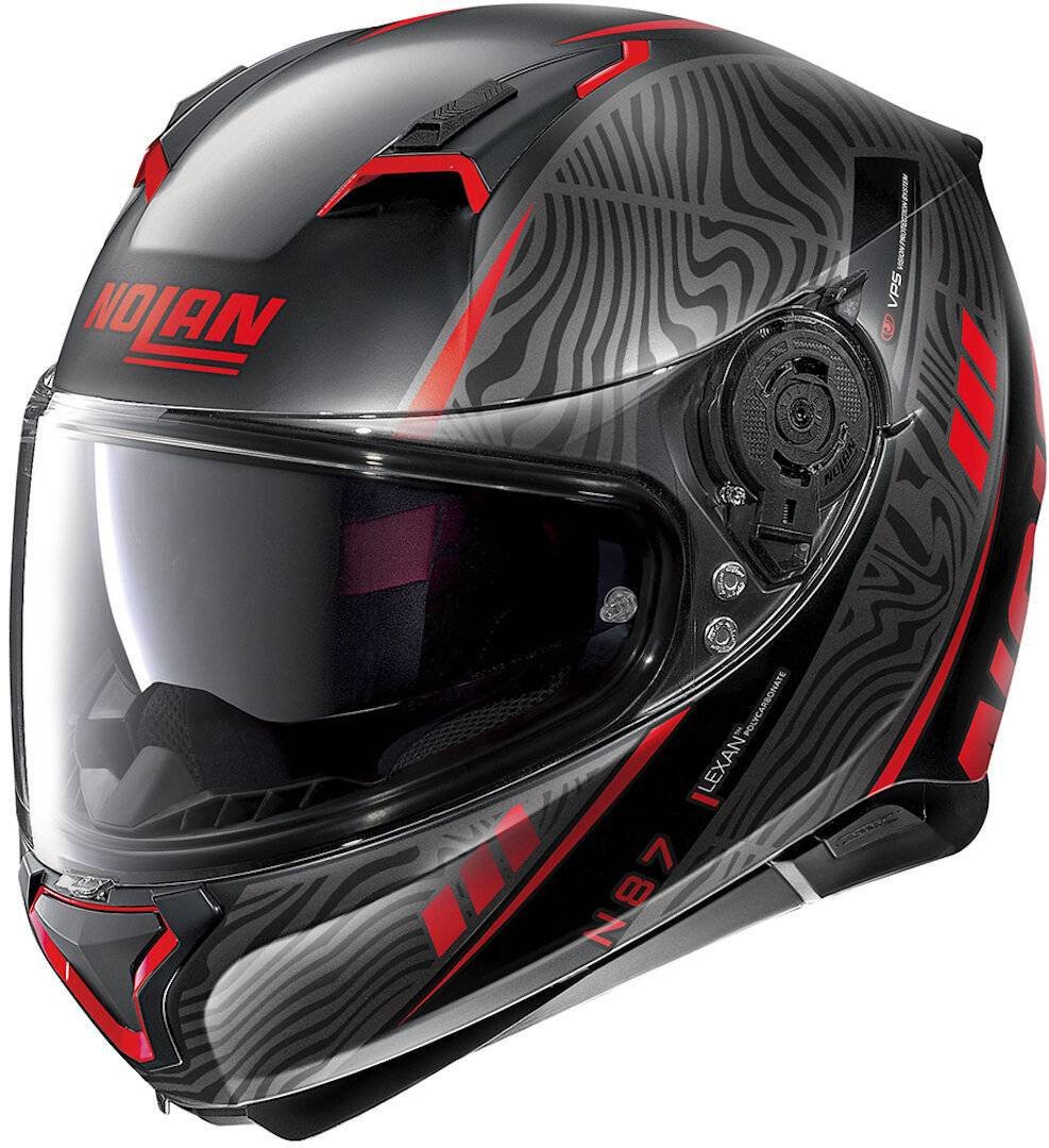 Nolan N87 Sioux N-Com Helmet  - Black Red - Size: XS