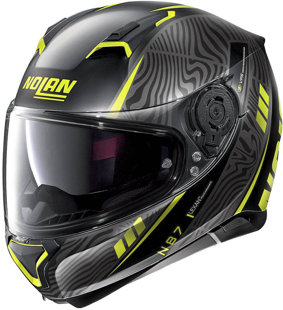 Nolan N87 Sioux N-Com Helmet  - Black Yellow - Size: S
