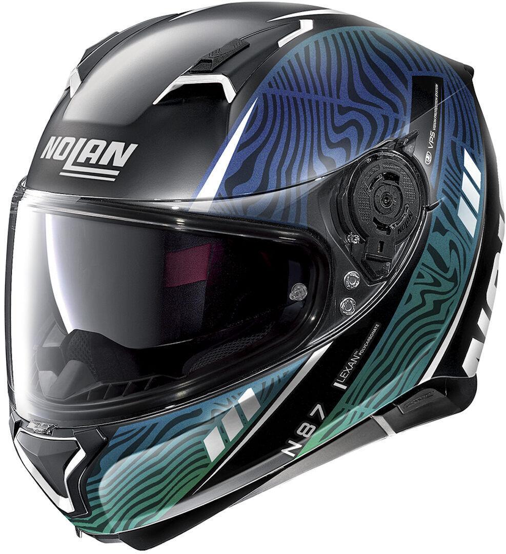 Nolan N87 Sioux N-Com Helmet  - Black Green - Size: XS