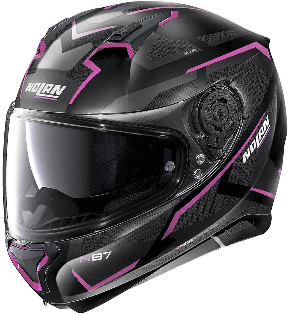 Nolan N87 Plus Overland N-Com Helmet  - Black Pink - Size: M