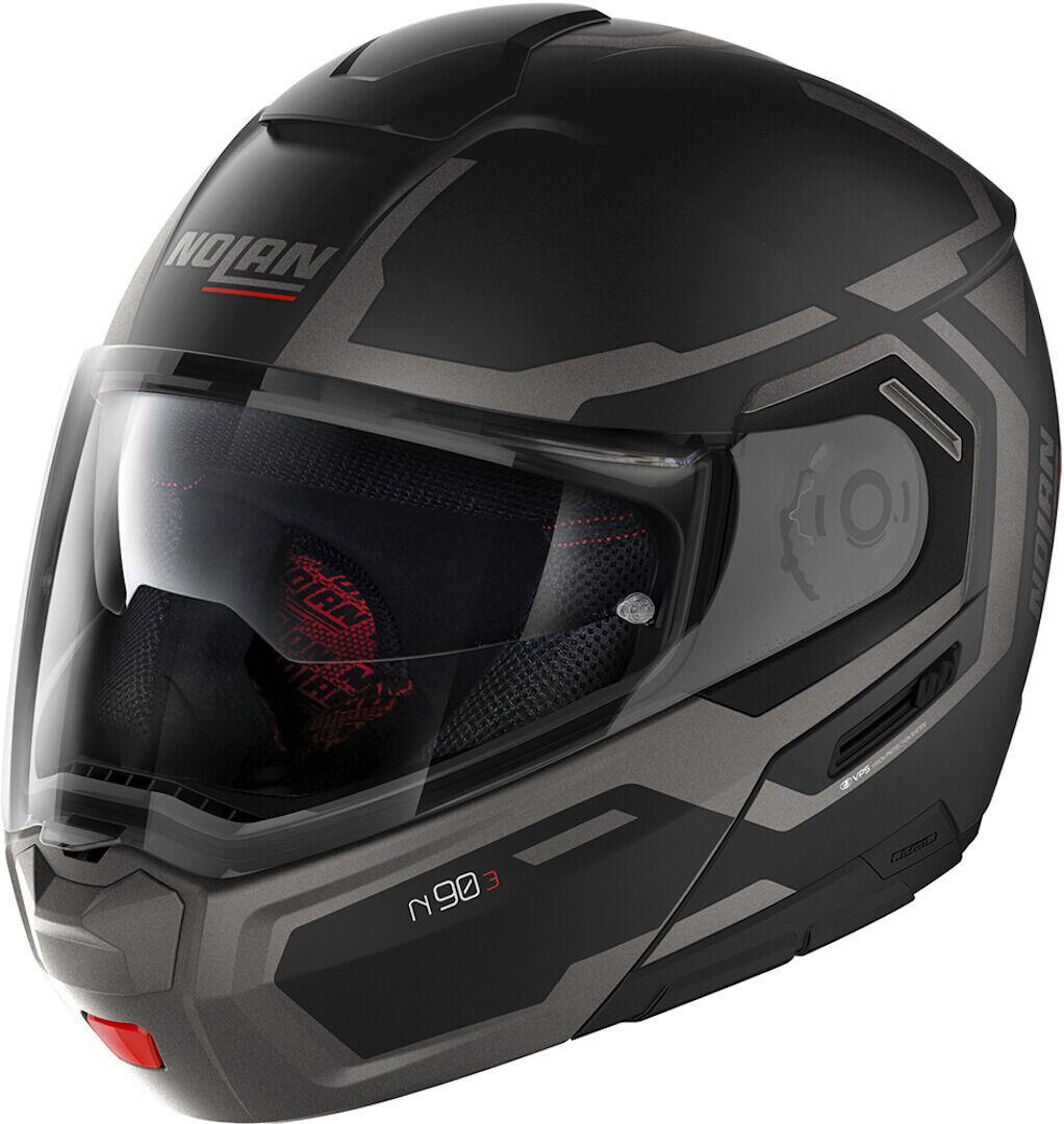 Nolan N90-3 Driller N-Com Helmet  - Black Grey - Size: M