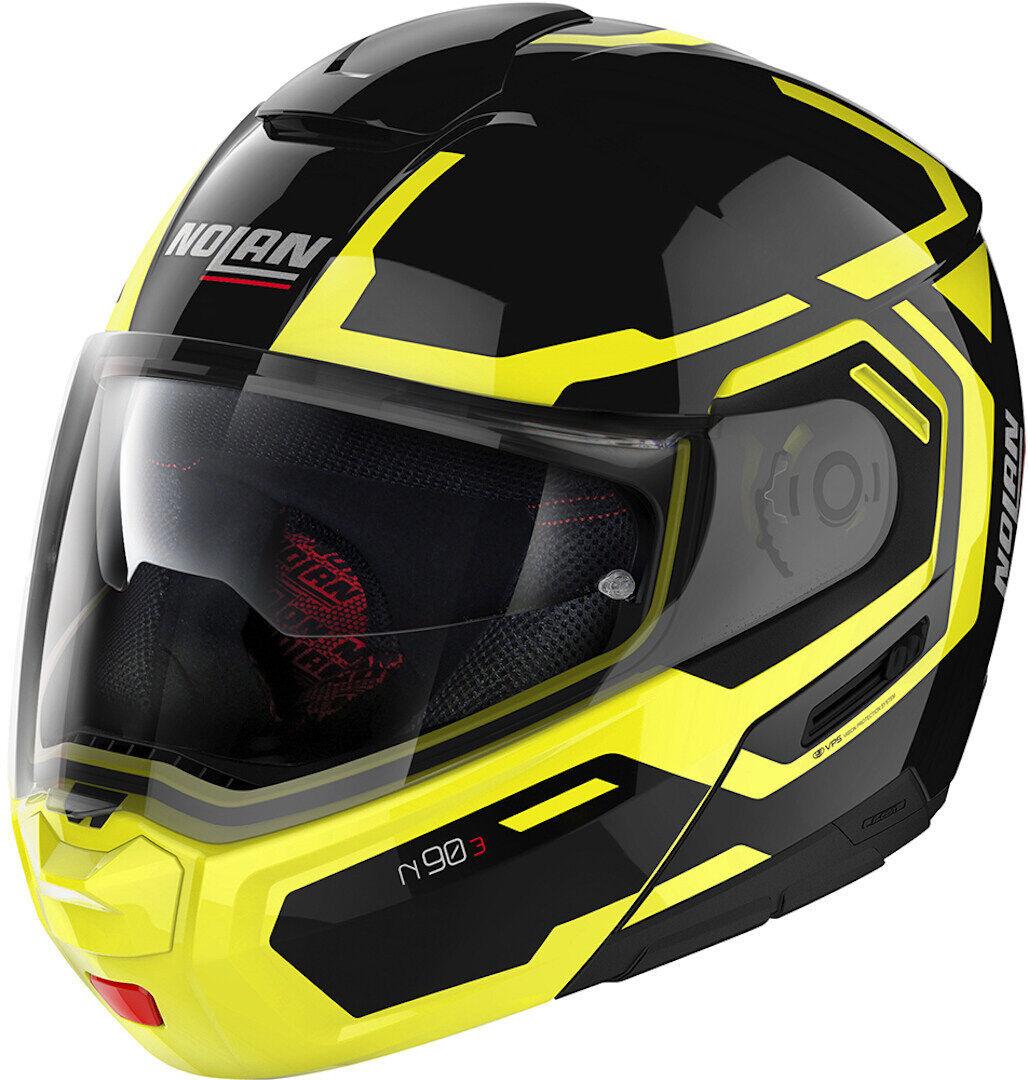 Nolan N90-3 Driller N-Com Helmet  - Black Yellow - Size: L