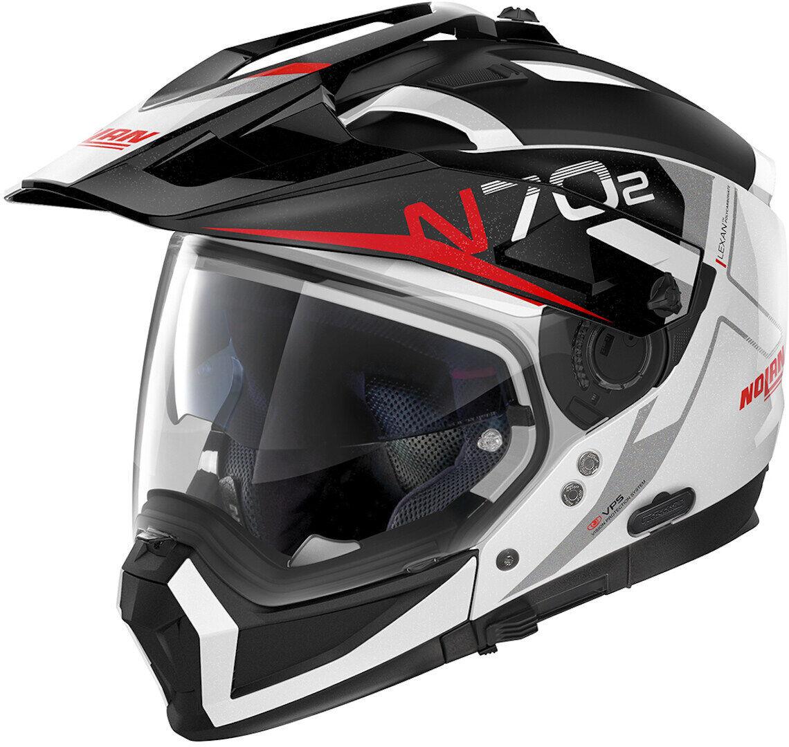 Nolan N70-2 X Bungee N-Com Helmet  - Black White - Size: XL