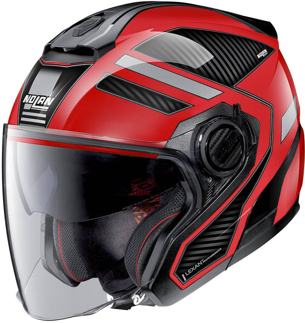Nolan N40-5 Beltway N-Com Jet Helmet  - Black Red - Size: S