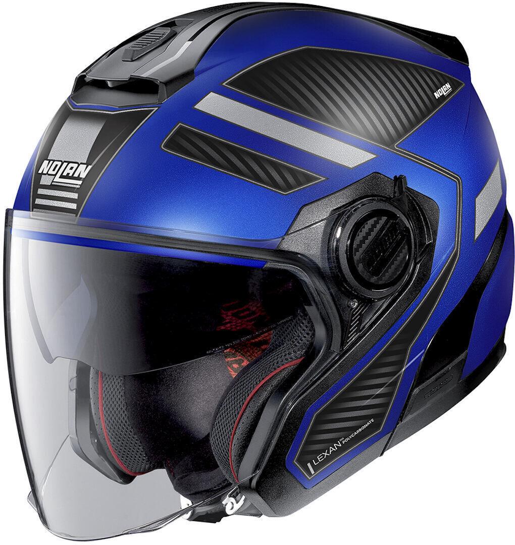 Nolan N40-5 Beltway N-Com Jet Helmet  - Black Blue - Size: L