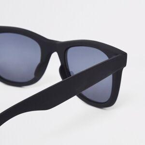 river island Mens Black smoke lens retro square sunglasses (One Size)